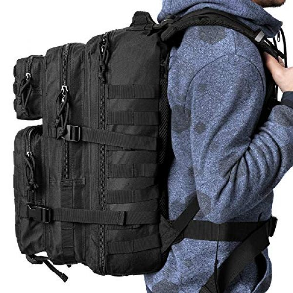 GUGULUZA Tactical Backpack 7 GUGULUZA Military Tactical Molle Backpack Army 3 Day Assault Pack Molle Bag Rucksack for Hunting Camping