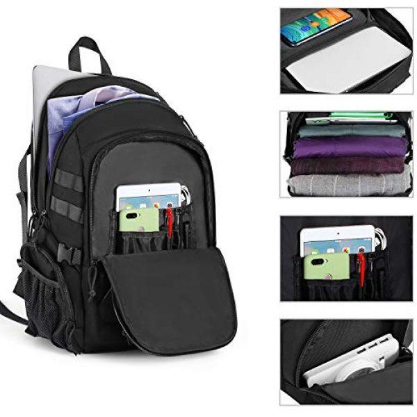 MOSISO Tactical Backpack 2 MOSISO Tactical Backpack, 2-Layer Multifuntional Large Molle Rucksack Daypack Adjustable Shoulder Back Pack Bag with Side Bottle Holder/USA Flag for Sport Outdoor Hiking Camping Training, Black
