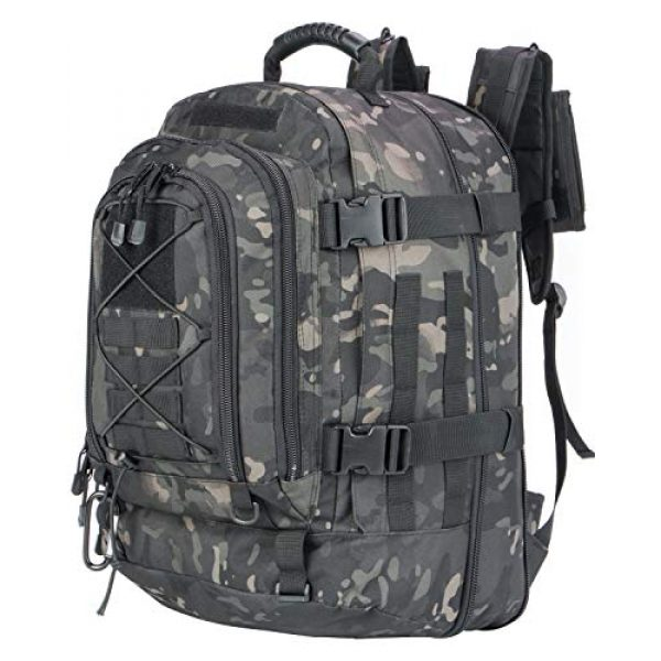 XWL SPORTS Tactical Backpack 2 XWL SPORTS Military Tactical Assault Backpack Tactical Sling Bag Pack for Outdoor Hiking Camping Hunting School Etc (Black Multicam)