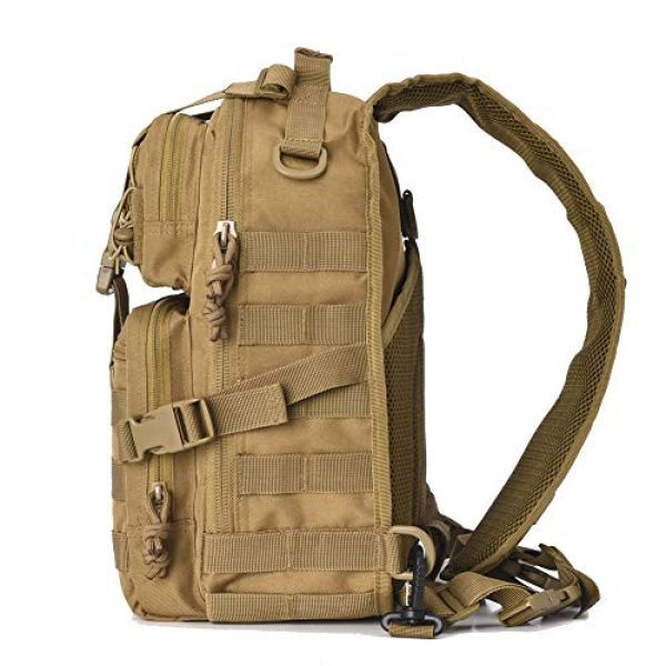 AXEN Tactical Backpack 3 AXEN Tactical EDC Sling Bag Pack, Military Rover Shoulder Molle Backpack, with Flag Patch