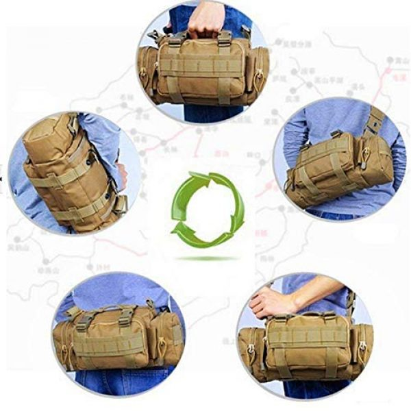 FAMI Tactical Backpack 5 FAMI Fanny 3P Military Tactical Pouch Backpack Range Bags Molle attachments Pouch Small EDC Sling Pack Hand Carry Bag