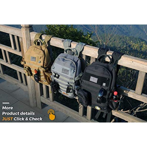 DBTAC Tactical Backpack 7 DBTAC Tactical Backpack Molle Hiking Daypack 25L with Laptop/Hydration Pockets