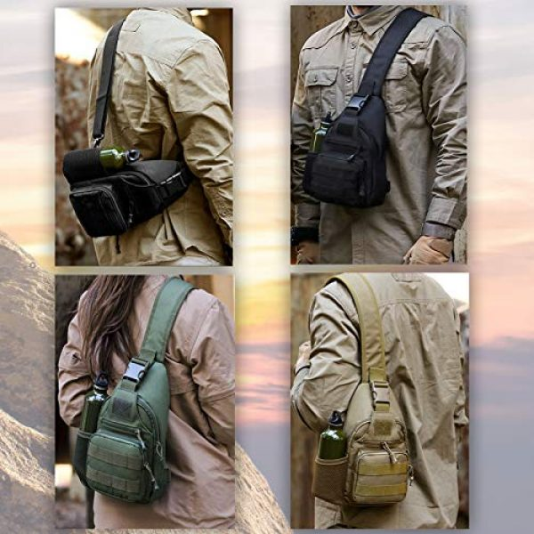 Ydmpro Tactical Backpack 4 Ydmpro Tactical Sling Bag, Chest Pack Molle Daypack Military Crossbody Shoulder Bags