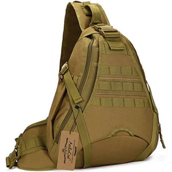 ArcEnCiel Tactical Backpack 1 ArcEnCiel Tactical Sling Pack Military Molle Chest Crossbody Shoulder Bags Motorcycle Bicycle Assault Range Diaper Backpack