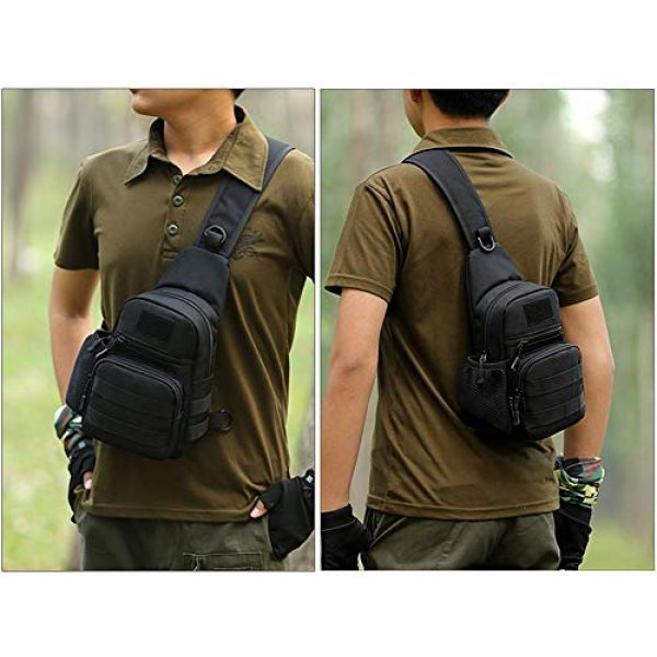 Huntvp Tactical Backpack 7 Huntvp Small Tactical Sling Chest Pack Bag Molle Daypack Backpack Military Crossbody
