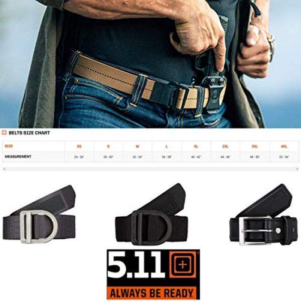 5.11 Tactical Backpack 7 5.11 Tactical Basic Patrol Bag 37 Liters, Adjustable/Removable Shoulder Strap, Style 56523 & Men's 1.5-Inch Convertible TDU Belt, Nylon Webbing, Fade-and Fray-Resistant, Style 59551 Black, X-Large