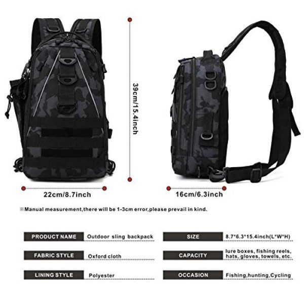 DOUN Tactical Backpack 6 DOUNto Tactical Sling Backpack, EDC Molle Sling Bag Military Daypack Backpack Outdoor Range Bags