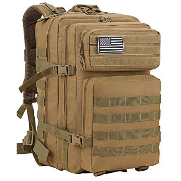 Luckin Packin Tactical Backpack 2 Luckin Packin Tactical Backpack,Military Backpack 45L with Tactical Sling Bag Khaki
