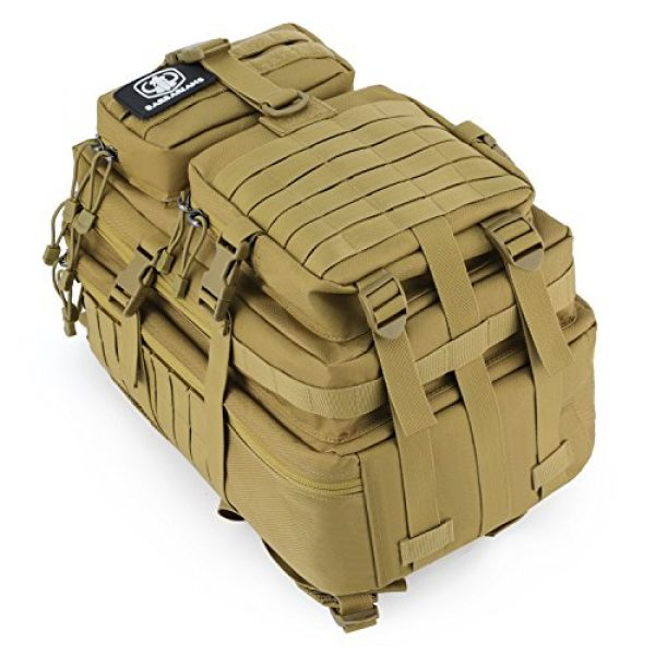 Barbarians Tactical Backpack 4 Barbarians Upgraded SBS Zipper Tactical Molle Backpack, 3 Day Assault Pack for Outdoor Hiking Camping Trekking Hunting 35L