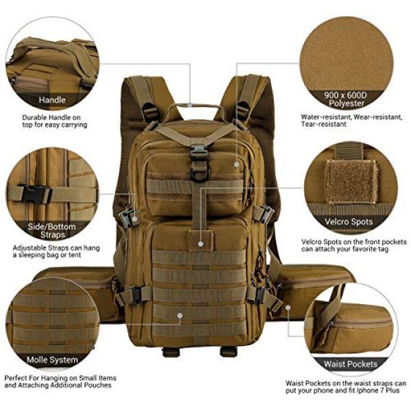 RUPUMPACK Tactical Backpack 2 RUPUMPACK Military Tactical Backpack Army MOLLE Hydration Bag 3 Day Rucksack Outdoor Hiking School Daypack 33L