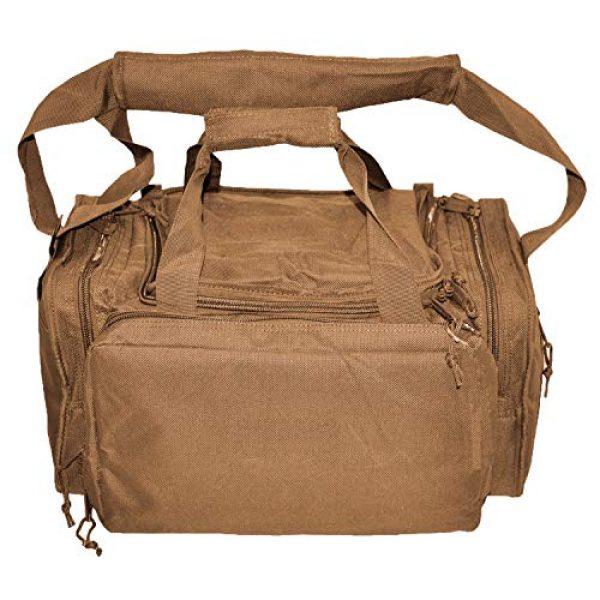 Explorer Tactical Backpack 6 EXPLORER Backpack + Range Bag with Large Padded Deluxe Tactical Divider and 9 Clip Mag Holder - Rangemaster Gear Bag (Brown Tan Range Bag)