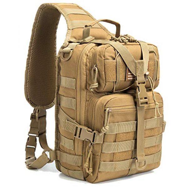 SHELCUP Tactical Backpack 1 SHELCUP EDC Sling Bag Pack, Rover Shoulder Molle Backpack, with USA Flag Patch