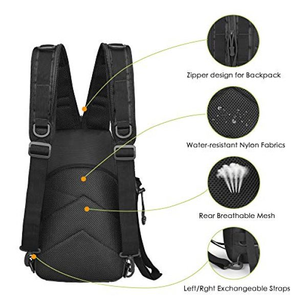EUTOPETIAN Tactical Backpack 3 EUTOPETIAN Tactical-Backpack for Survival Military-Assault Pack Molle-Rucksack Bag Gear for Outdoor Hiking Camping