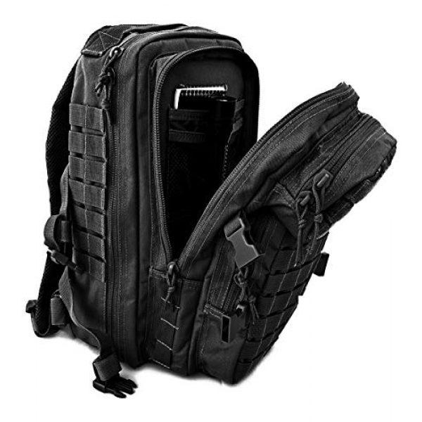 Tactical Pro Supply Tactical Backpack 4 Tactical Pro Supply Kevlar Ranger Back Pack (Black)