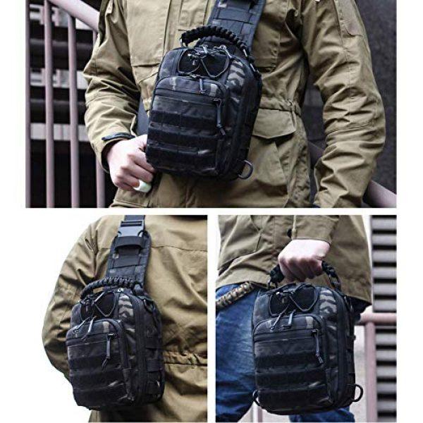 ANTARCTICA Tactical Backpack 6 ANTARCTICA Tactical Sling Bag Pack Military Rover Shoulder Bag Molle Assault Range Bag Backpack 1050D