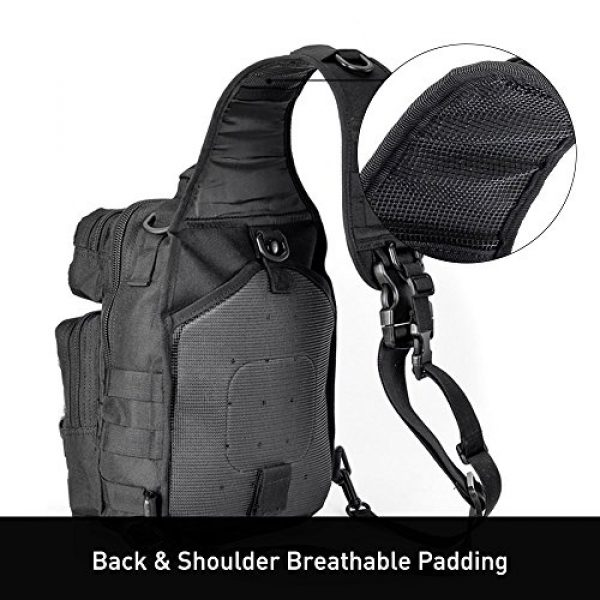 Weanas Tactical Backpack 3 Weanas Tactical Sling Bag Pack Military Rover Shoulder Sling Backpack Molle Assault Range Bag with 4 Tactical D-Ring Clips