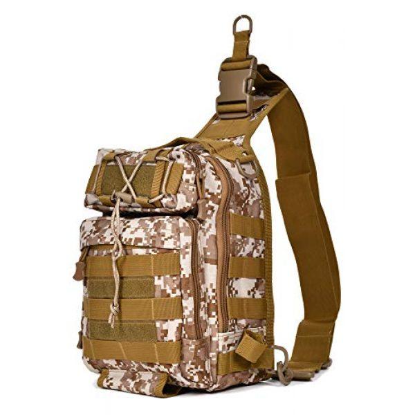 Ornate Tactical Backpack 1 Ornate Tactical Sling Bag, 600D Bug Out Molle Backpack