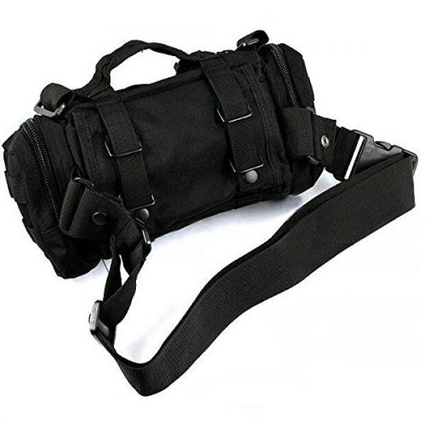 FIRECLUB Tactical Backpack 4 FIRECLUB Black Deployment Waist Chest Pack Outdoor Military Duffle Tactical Assault Combined Backpack Rucksack Sport Molle Camping Trekking Messenger Crossbody single Shoulder Bag +6 Key Buckle