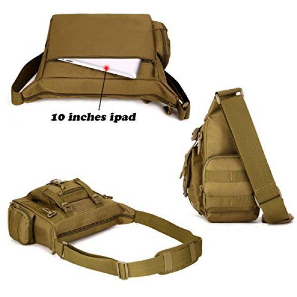 ArcEnCiel Tactical Backpack 4 ArcEnCiel Tactical Messenger Bag Men Military MOLLE Sling Shoulder Pack with Patch
