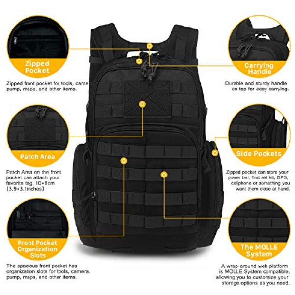 Mardingtop Tactical Backpack 4 Mardingtop 25L/35L/40L Tactical Backpacks Molle Hiking daypacks for Motorcycle Camping Hiking Military Traveling