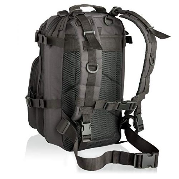 Savage Cut Tactical Backpack 2 Savage Cut Waterproof Tactical Bag - Military Laser Cut, Heavy Duty Survival Backpack (Black)