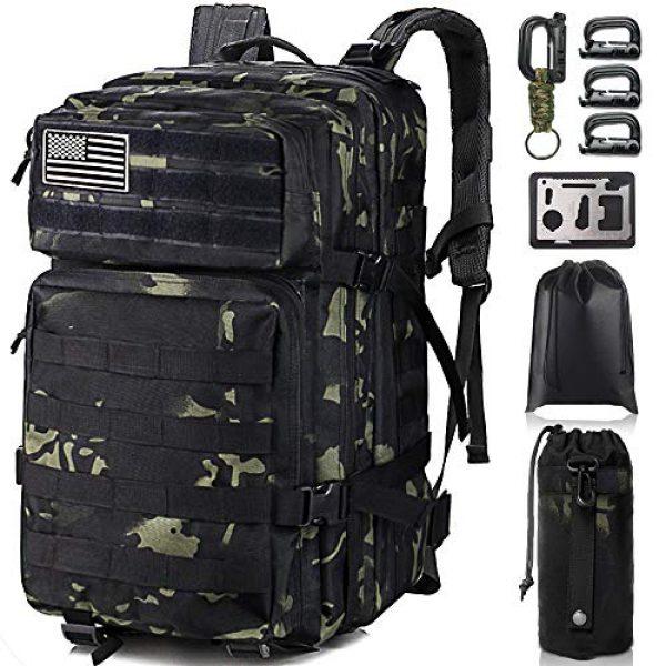 Monoki Tactical Backpack 1 Monoki Military Tactical Backpack, Army 3 Day Assault Pack,42L Molle Bag Rucksack