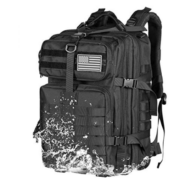 Himal Tactical Backpack 5 Himal Military Tactical Backpack - Large Army 3 Day Assault Pack Molle Bag Rucksack,40L,Black
