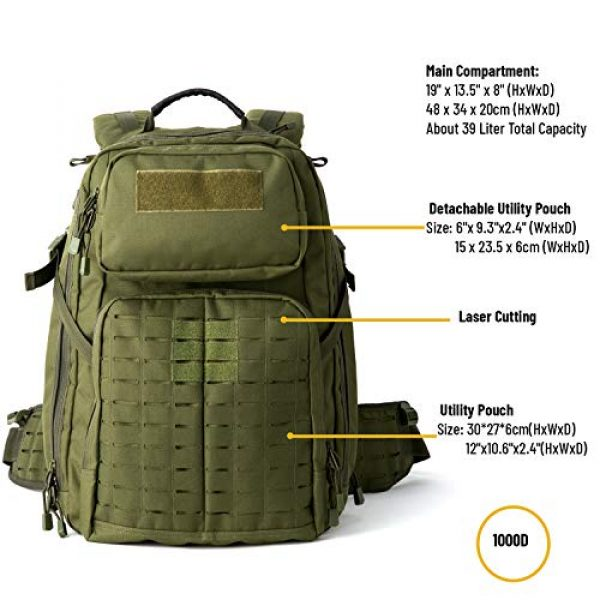 MT Tactical Backpack 3 MT Adventure 48H Military Rucksack MOLLE Tactical Assault Hydration Backpack