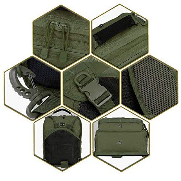 QT&QY Tactical Backpack 6 QT&QY Tactical Sling Bag for Men Small Military Rover Shoulder Backpack EDC Chest Pack Molle Assault Range Bag