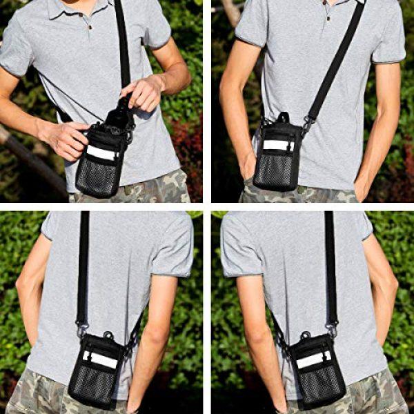 BraveHawk OUTDOORS Tactical Backpack 7 BraveHawk OUTDOORS Shoulder Messenger Bag Bottle Holder Pouch, 800D Military Nylon Oxford EDC Phone Holder Small Crossbody Pack