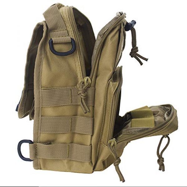 TOPTIE Tactical Backpack 4 TOPTIE Tactical Sling Bag, EDC Molle Sling Bag Range Bag, Camping Hiking Trekking
