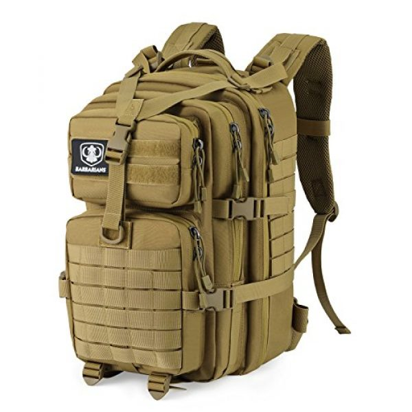 Barbarians Tactical Backpack 2 Barbarians Upgraded SBS Zipper Tactical Molle Backpack, 3 Day Assault Pack for Outdoor Hiking Camping Trekking Hunting 35L