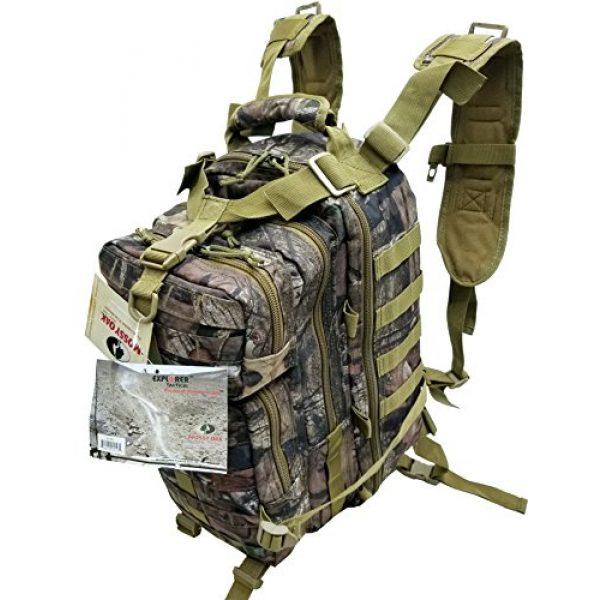 "Explorer Tactical Backpack 1 Tactical Assault Pack - Combat Rucksack - 17"" Military MOLLE Backpack 27L (Mossy Oak)"