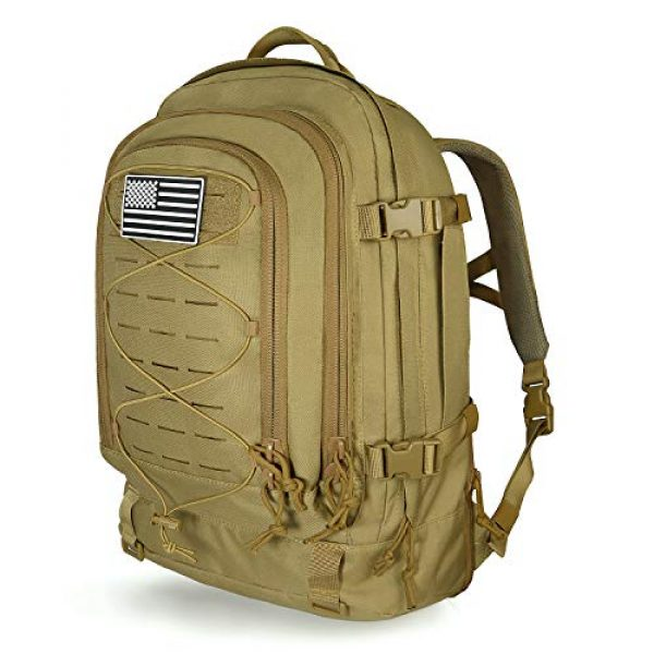 SunsionPro Tactical Backpack 1 SunsionPro MTB-236 Laser Molle Expandable Tactical Backpack for Traveling, Camping, Trekking & Hiking, 42-62L