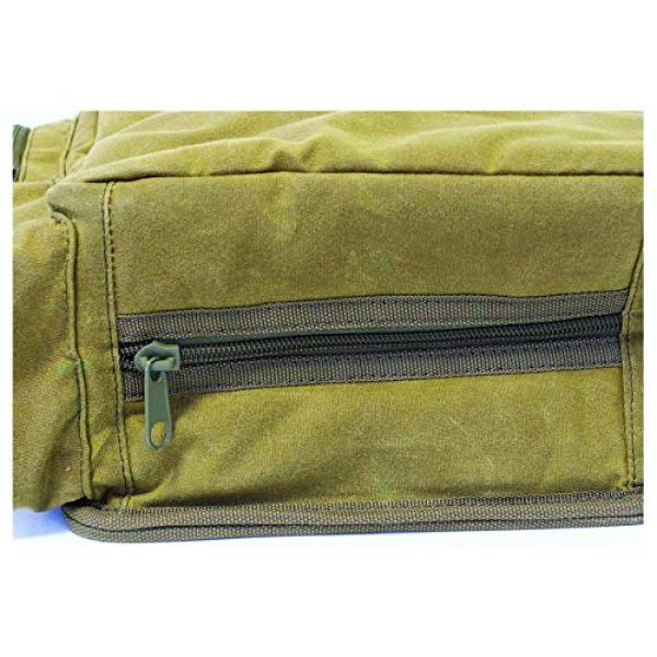 Birchwood Casey Tactical Pouch 4 Birchwood Casey Shell Bag with Belt - Brown Waxed Canvas, Model:BC-06812