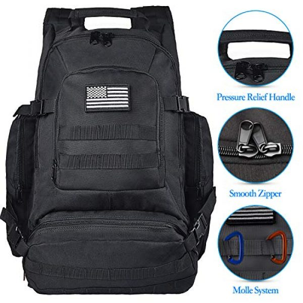 NOOLA Tactical Backpack 3 NOOLA Tactical Military Backpack Army 3 Day Assault Pack Large Rucksack Molle Bag