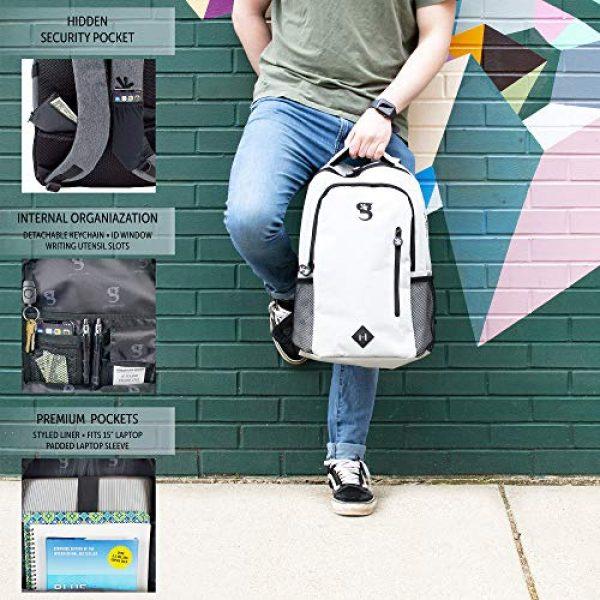 """geckobrands Tactical Backpack 4 geckobrands Ambition Backpack """" School/Work Backpack, Light Grey"""