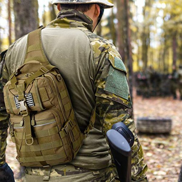 G4Free Tactical Backpack 7 G4Free Tactical Sling Backpack Big Molle EDC Assault Range Bag Pack Military Style for Concealed Carry