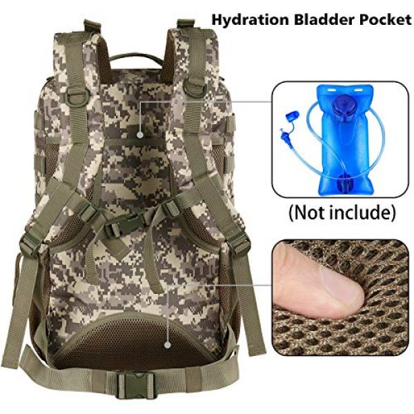 YOREPEK Tactical Backpack 5 Military Tactical Backpack 42L Large Army Rucksack 3 Day Assualt Pack Molle Bag