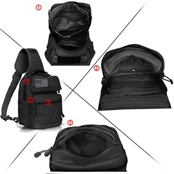 G4Free Tactical Backpack 5 G4Free Tactical Sling Bag Backpack Military Rover Shoulder Sling Pack Molle EDC Small Crossbody Chest Pack