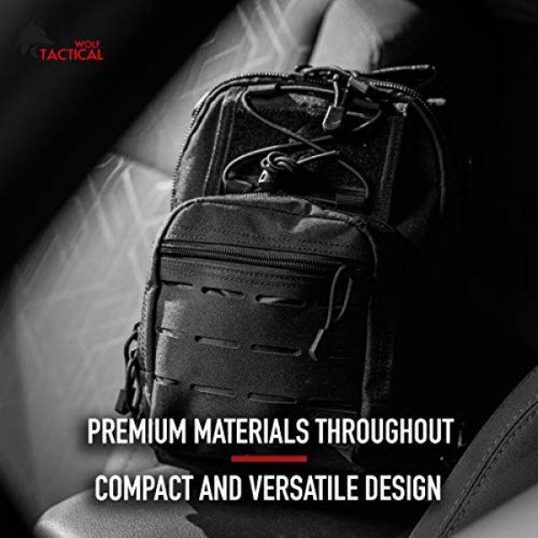 WOLF TACTICAL Tactical Backpack 6 WOLF TACTICAL Compact EDC Sling Bag - Concealed Carry Shoulder Bag for Range, Travel, Hiking, Outdoor Sports