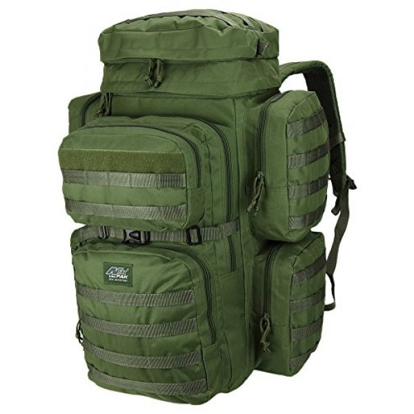 NPUSA Tactical Backpack 2 Mens 26 Inch Large Military Tactical Gear Molle Hydration Ready Hiking Backpack Bag + Sunglasses