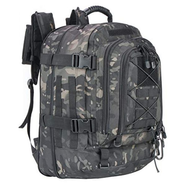 XWL SPORTS Tactical Backpack 1 XWL SPORTS Military Tactical Assault Backpack Tactical Sling Bag Pack for Outdoor Hiking Camping Hunting School Etc (Black Multicam)