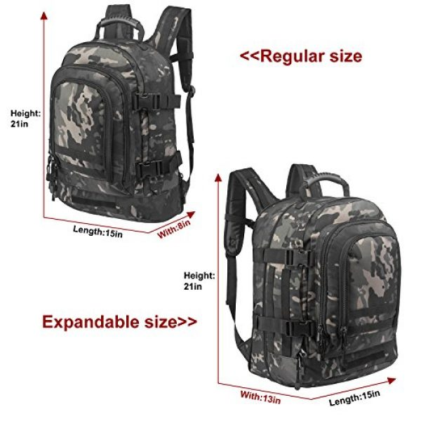 ARMYCAMO Tactical Backpack 6 ARMYCAMO Expandable Backpack 39L-64L Large Military Tactical Bug Out Bag Daypack