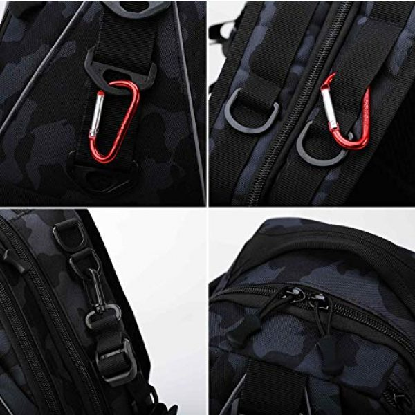 DOUN Tactical Backpack 5 DOUNto Tactical Sling Backpack, EDC Molle Sling Bag Military Daypack Backpack Outdoor Range Bags