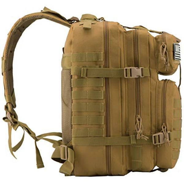 Luckin Packin Tactical Backpack 3 Luckin Packin Military Tactical Backpack, Molle Bag, Rucksack Pack, 45 Liter Large