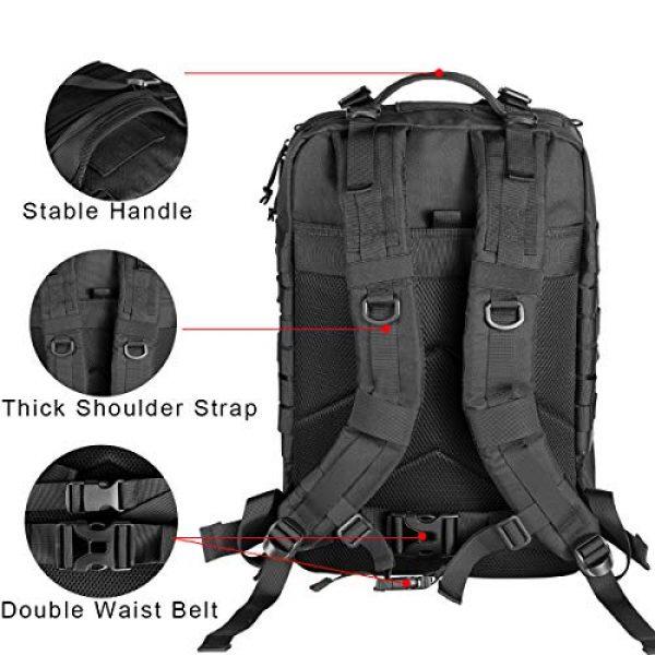 Himal Tactical Backpack 4 Himal Military Tactical Backpack - Large Army 3 Day Assault Pack Molle Bag Rucksack,40L,Black