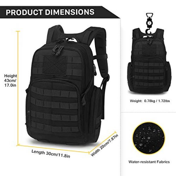 Mardingtop Tactical Backpack 3 Mardingtop 25L/35L/40L Tactical Backpacks Molle Hiking daypacks for Motorcycle Camping Hiking Military Traveling