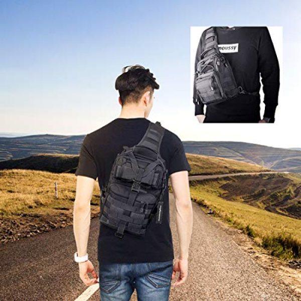 hopopower Tactical Backpack 7 Tactical Sling Bag Pack Military Shoulder Backpack Everyday Carry Bag,20L