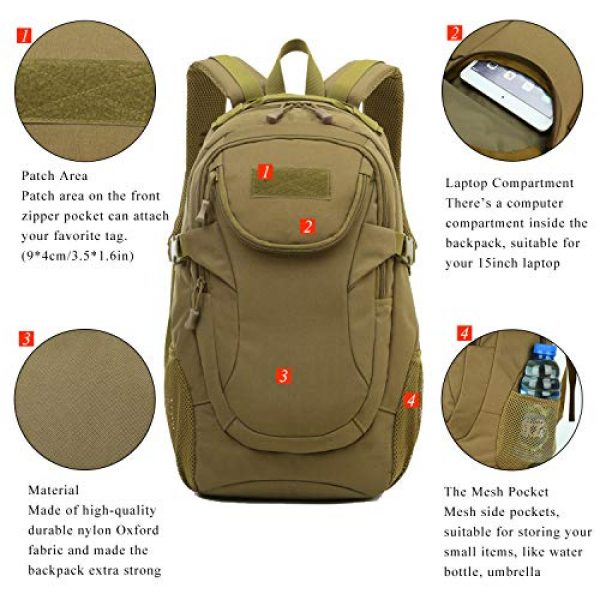 RUI NUO Tactical Backpack 5 RUI NUO 35L Military Backpack Tactical Backpack Army Backpack MOLLE Assault Backpack Tactical Combat Backpack Emergency Bag for Hunting Hiking Camping & Outdoor Activity